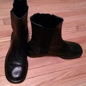 Banana republic black leather boots women 10